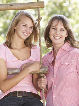 Mother and Daughter Smiling About SureSmile